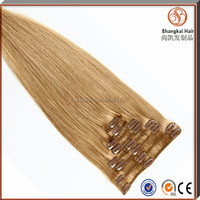 Wholesale High Quality Full Head Lace Weft Clip In Hair Extension