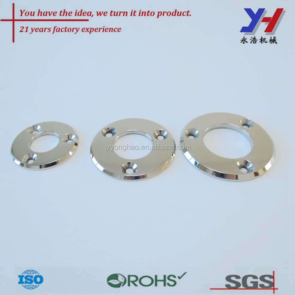 Stamped Steel Flanges : Chamfering stainless steel flanges custom stamping parts