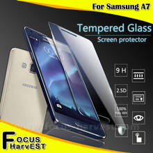 2016 lcd screen protector 0.3mm 2.5D Tempered Glass 9H hardness glass screen protector protective film For samsung A7
