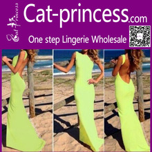 2014 wholesale bright green sleeveless evening dress