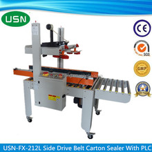 Used high quality side drive belt carton sealer for food