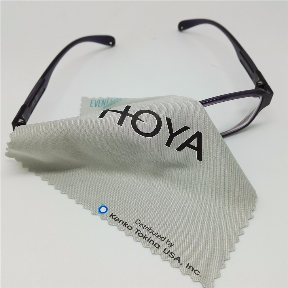 logo printed super fine glass microfiber lens jewelry cleaning cloth