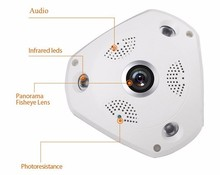 H.264 HD 960P 360 degree VR panorance home security sureillance system wireless wifi IP camera