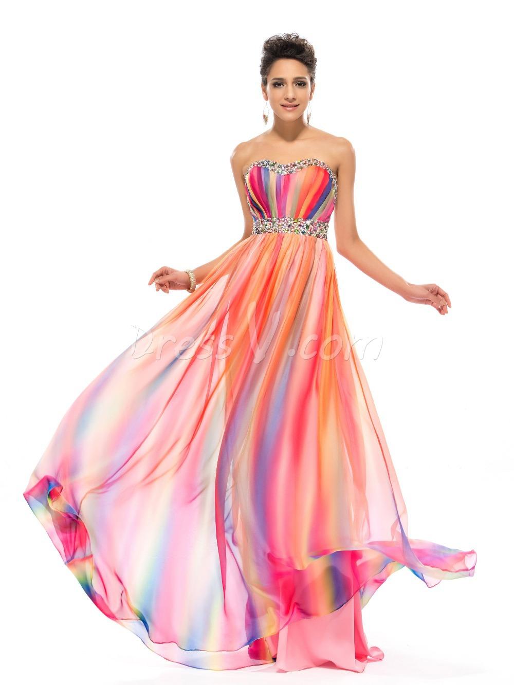 Rainbow Evening Dress