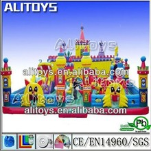 new design giant beautiful funny inflatable fun city equipment for kids