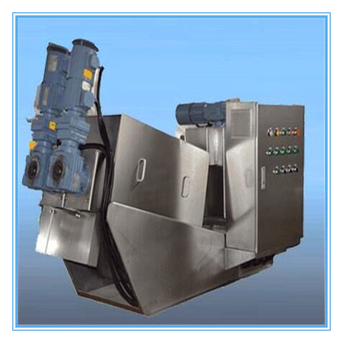 multi-plate volute sludge dewatering machine for oily sludge