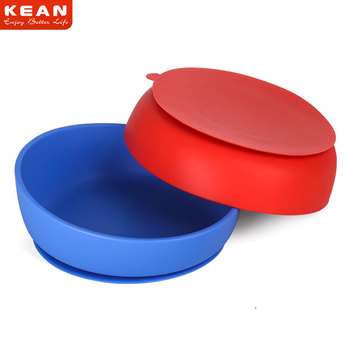 New Arrival Eco-friendly Non-toxic Strong Suction Silicone Baby Feeding Bowl And Plate