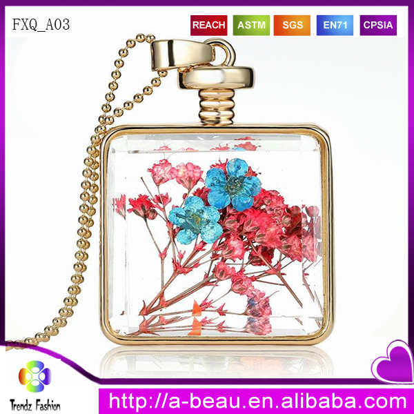 New Fashion Dry Flower Necklace Current Bottle Necklace FXQ_<strong>A03</strong>
