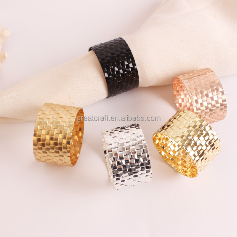 Wholesale rattan weave napkin rings for weddings