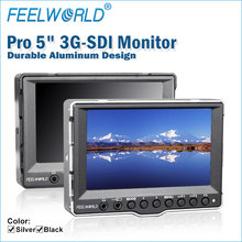 Wide viewing angle 5 inch lcd monitor false colors exposure 3G-SDI HDMI inputs and outputs best dslr filmmaking