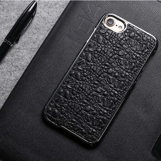 Free sample customized hot selling cell Crocodile pattern leather phone case for iphone 7
