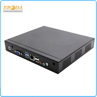 12V Portable Intel J2900 Quad-core 2.4--2.6GHz X86 HDMI VGA LAN port RJ45 High Quality Mini Computer Lilnux with VESA Mount