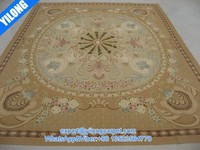 8'x10' Hand-Woven hand made wool aubusson carpet ( No. 0517 )
