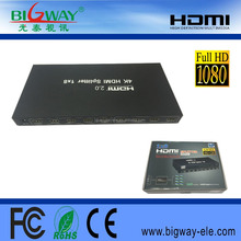 high quality HDMI Splitter 1x16 support 3d 1080p 4k