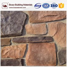 Artificial river rock landscaping stone wall panel
