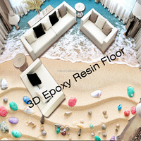 3D Epoxy Resin Room Floor Decoration and Paint