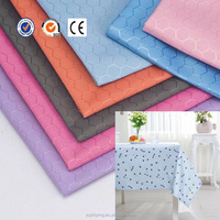 china supplier 100 polyester oxford fabric waterproof table cloth for home textile