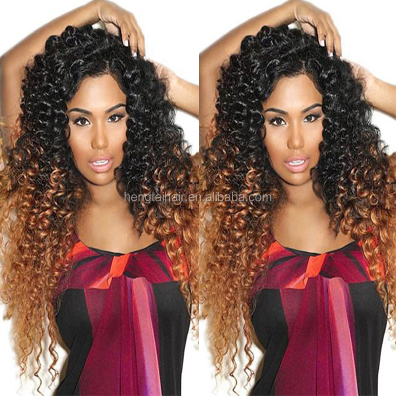 Ombre Curly Brazilian Kinky Curly Hair 4PCS Red Wine 99j 1b burgundy Brazilian Curly Hair Ombre Human Hair Weave 1b/27 1b/30