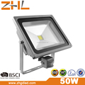 Garden light PIR Sensor 50W COB LED Flood light 100-240VAC IP65 wateproof outdoor lighting wihite color