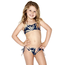 custom kid girls swimwear new printed cute bikini