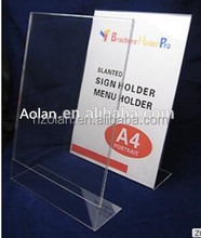 Acrylic sample menu card design table menu holder stand for bar and restaurant