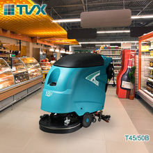 Cleaning machine for supermarket floor/industrial scrubber
