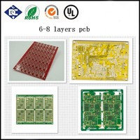 printing machine multilayer HDI PCB mt6572 mobile phone circuit board ghd hair iron