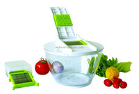Large Plastic Food Container with Lid Vegetable Slicer Manual Vegetable Grater