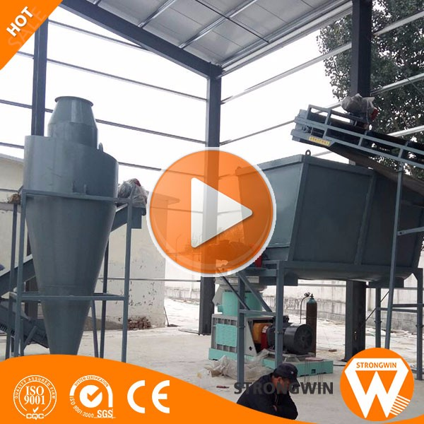 CE approved tree branch trunk bark hard wooden pellet mill machine pellet sawdust
