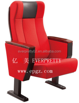 Hot sale theater chairs with wooden tablet attached