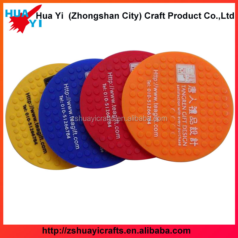 2017 factory custom wholesale round square clear pvc blank glass coaster