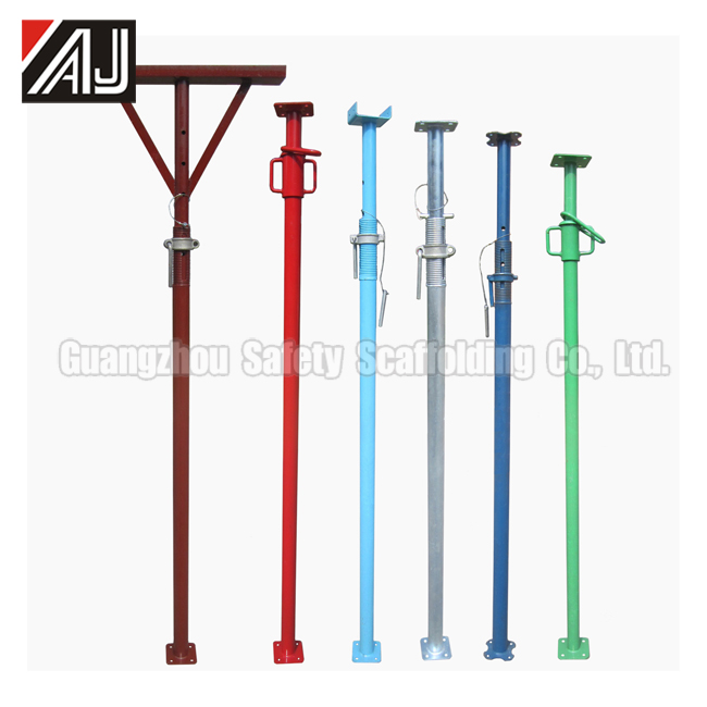 Steel Telescopic Construction Scaffolding Pole