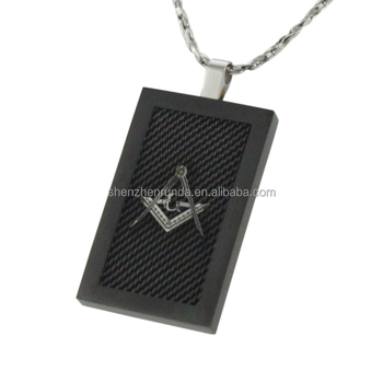 men's stainless steel black plated pendant square pendant jewelry on sales