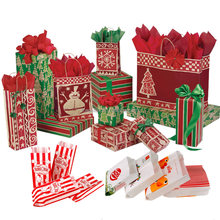 Christmas Xmas creative party gift wrap paper bag bakery paper bag