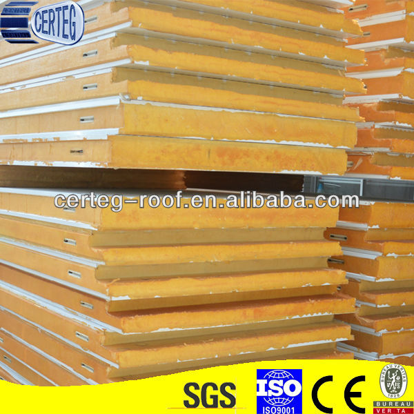 Insulation Galvanized Cold Room Polyurethane Ceiling Panel