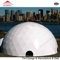 Unique white color Diameter 25m geodesic dome hotel for sale