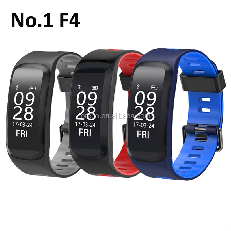 2017 smart bracelet F4 for massage device with heart rate, Blood pressure, Blood Oxygen and waterproof smart watch