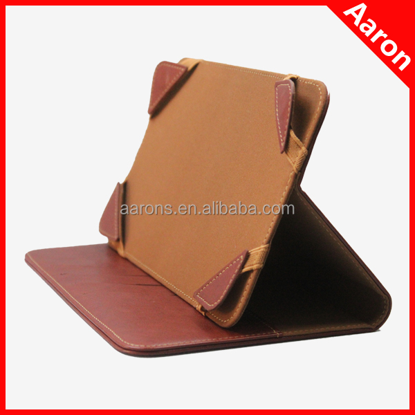 2014 newest design quality genuine leather universal case 7 inch