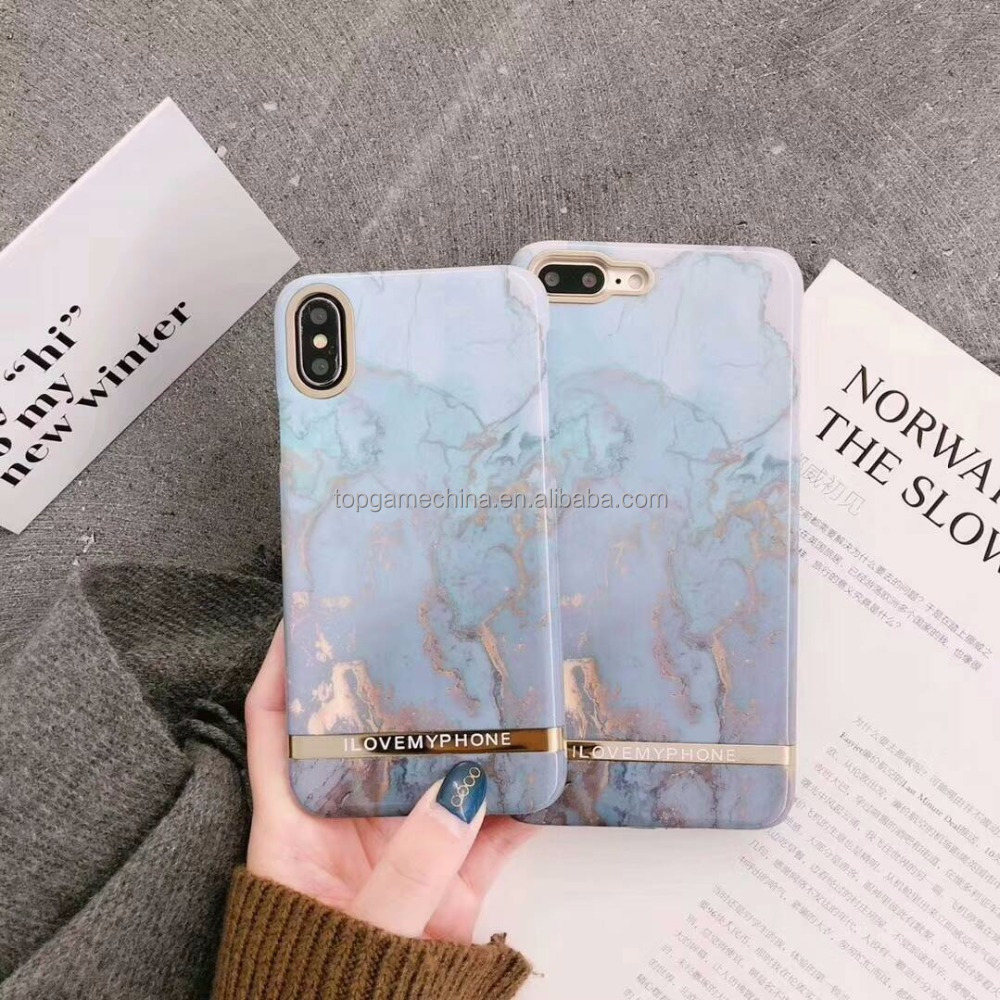 Lovely Luxury PC Back Cover For <strong>iPhone</strong> X Capa Fundas Coque Phone Case For <strong>iPhone</strong> 7 8 Plus Gold Marble Phone case