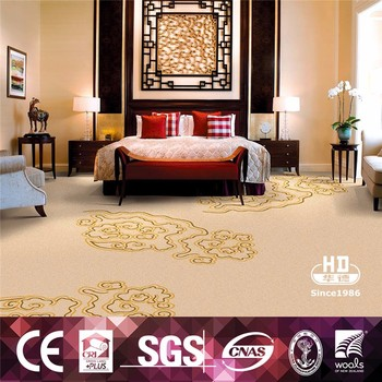 Digital printed cinema hotel floral pattern wall to wall for Floral pattern wall to wall carpet