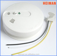 110V/220V AC powered wired interconnnected smog detection support back up battery with hush function