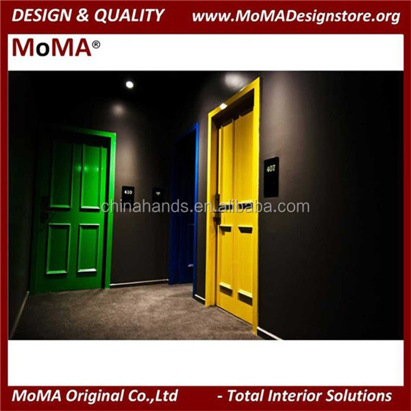 MA72NH Fancy Wooden Door Australian Standards Hotel Door Design
