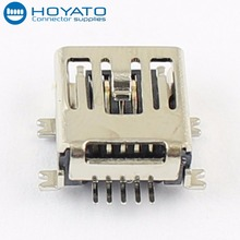 Female Gender and Mini USB Type 5 Pin jack to USB female connector SMT SMD