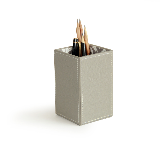 Simple Faux Leather pen holder stand combination organizer functional office accessories pen container