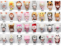 Cartoon Short Type Cute Plush Animal Hats Winter Warm Funny Party Cap Hat
