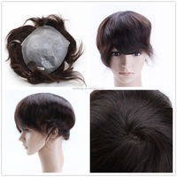 China hair Factory Wholesale full poly skin base hair wigs for men price