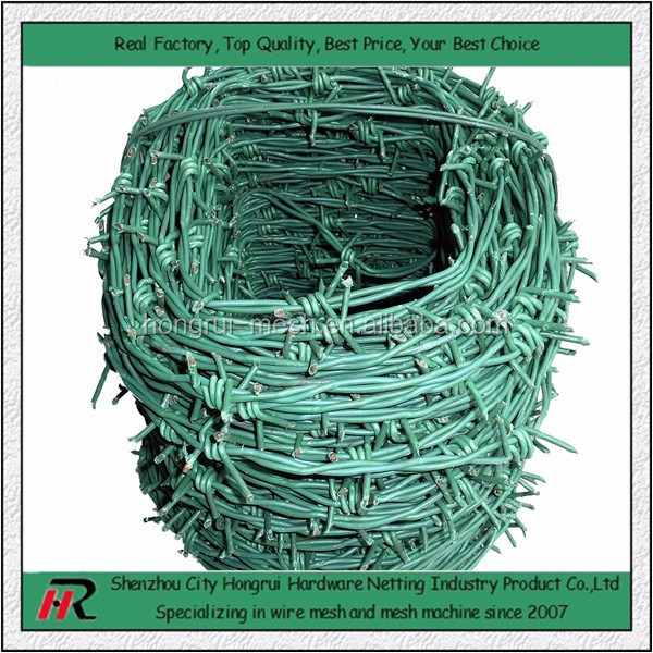 Lower Price Quality Higher Barriers For Pastures/Railways/Highway Galvanized Single / Double Twist Weaved Barbed Wire