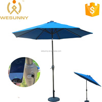 Outdoor Patio Solar Charger Umbrella With LED Light & USB Function