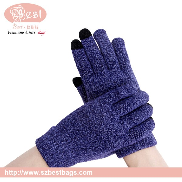 Conductive yarns touch screen glove ,smart phone glove,china supplier