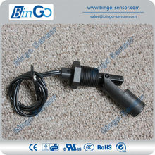 Black mini IP68 PP float level switch for liquid